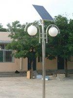 淄博乡村小院太阳能庭院灯工程